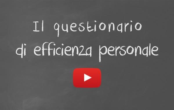 Il questionario di efficienza personale (QEP)